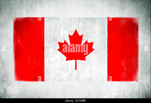 Canada Flag With Pole Painting