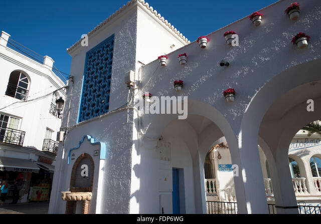 town centre of nerja stock photos town centre of nerja stock images alamy. Black Bedroom Furniture Sets. Home Design Ideas