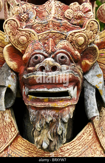 Balinese sculpture stone stock photos