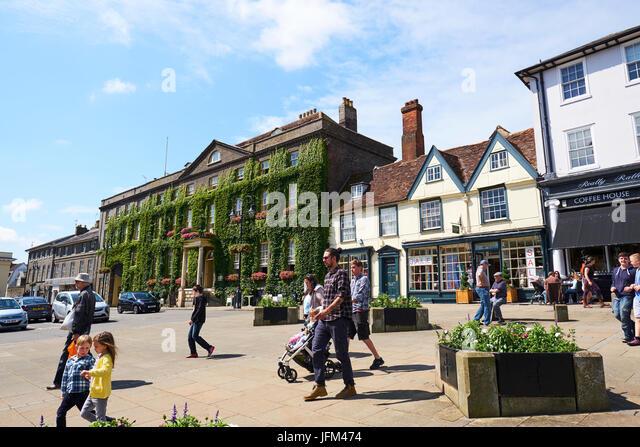 Angel Hotel, Angel Hill, Bury St Edmunds, Suffolk, UK - Stock Image