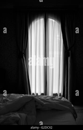 Curtains Ideas black sheer curtain : Sheer Curtains Stock Photos & Sheer Curtains Stock Images - Alamy