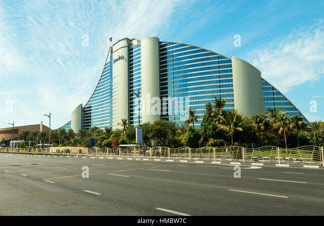 Beach luxurious hotel dubai uae stock photos beach for Dubai architecture moderne