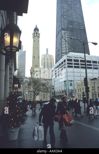 Chicago Shopping Christmas Stock Photos Chicago Shopping Christmas Stoc