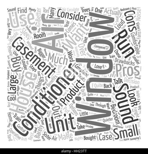 casement window air conditioner word cloud concept stock image
