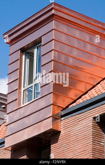 Copper cladding stock photos copper cladding stock images alamy for Sustainable exterior cladding materials