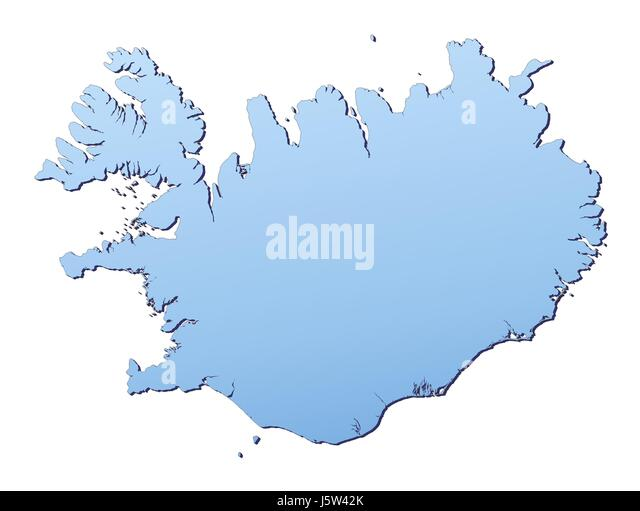 Iceland outline map stock photos iceland outline map stock images blue isolated outline iceland gradient map atlas map of the world backdrop stock image gumiabroncs Choice Image