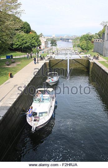 Boat Locks On Rideau Canal Stock Photos & Boat Locks On Rideau ...