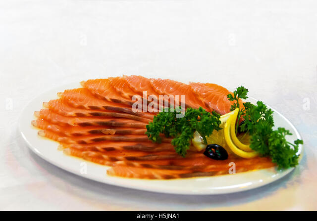 Salmon and seafood platter stock photos salmon and for Honey smoked fish
