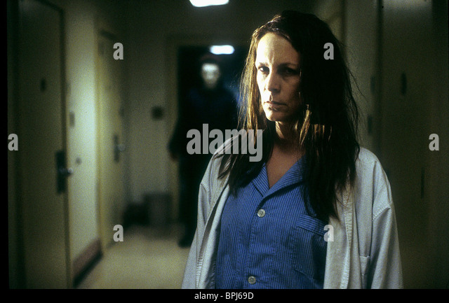 Jamie Lee Curtis As Laurie Strode Film Title Halloween Stock ...