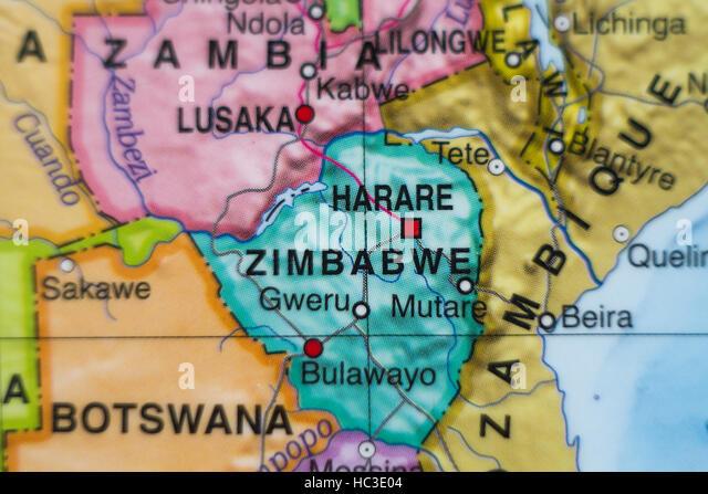 Map Republic Zimbabwe Southern Africa Stock Photos Map Republic - Republic of zimbabwe map