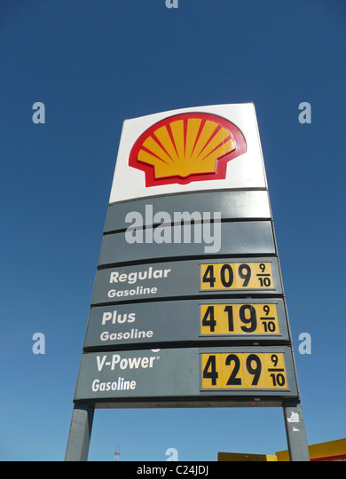 shell gas station sign showing stock photos amp shell gas