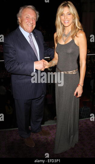 Marla Maples and daughter, Tiffany Trump dine at The Hippodrome restaurant with owners Jimmy Thomas and son, Simon - Stock Image