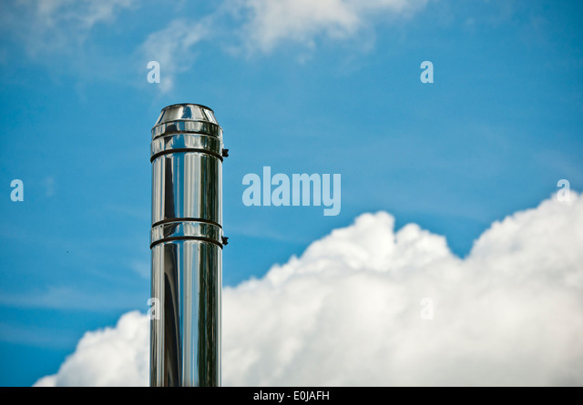 Stainless steel stove stock photos stainless steel stove for Close chimney flue