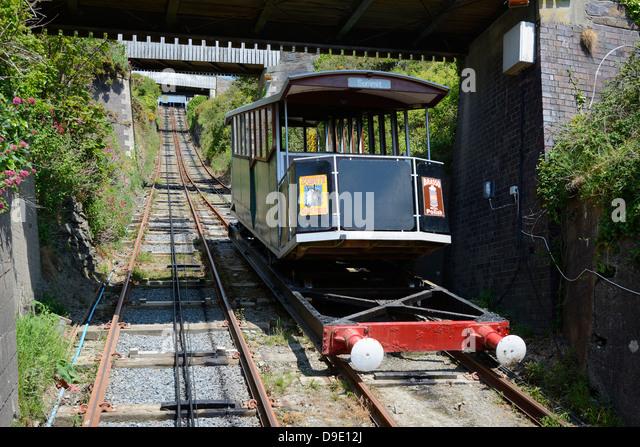 Funiculars... Funicular-railway-at-aberystwyth-dyfed-wales-uk-d9e12j