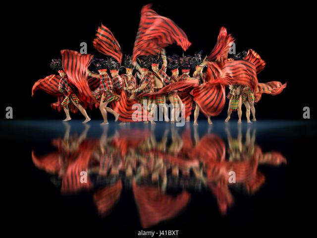 Group of men dancing, Culture, Ifugao, Banaue, Banawe, Philippines, Asia - Stock Image