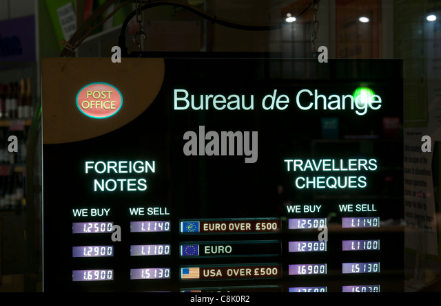 Travellers checks stock photos travellers checks stock - Post office bureau de change exchange rates ...