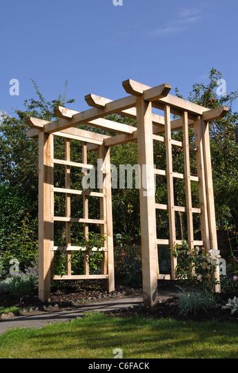 Wooden Garden Arch Stock Photos Amp Wooden Garden Arch Stock