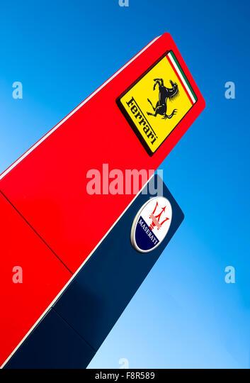 Ferrari Dealership Nyc >> Ferrari Sign Stock Photos & Ferrari Sign Stock Images - Alamy