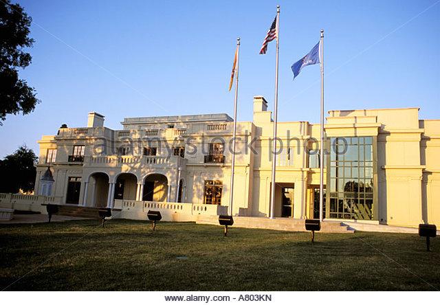 North America, USA, Oklahoma, Tulsa. Tulsa Garden Center Mansion.   Stock