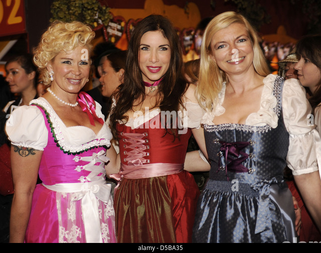 claudia effenberg alexandra pozin and guest at regine sixt damen wiesn at hippodrom tent during