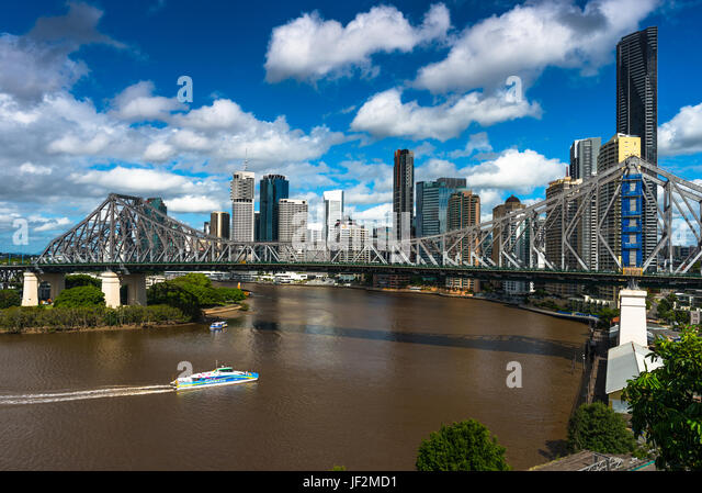 Brisbane city skyline with Story bridge. Queensland. Australia. - Stock Image