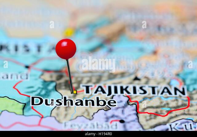 Dushanbe Tajikistan Stock Photos Dushanbe Tajikistan Stock - Middle east map dushanbe