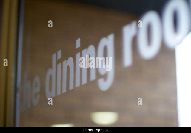 The Dining Room Sign In Lettering With Shallow Depth Of Field