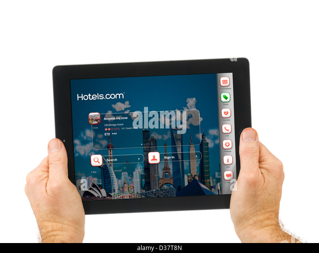 Stock photos stock images alamy for Tablet hotel booking