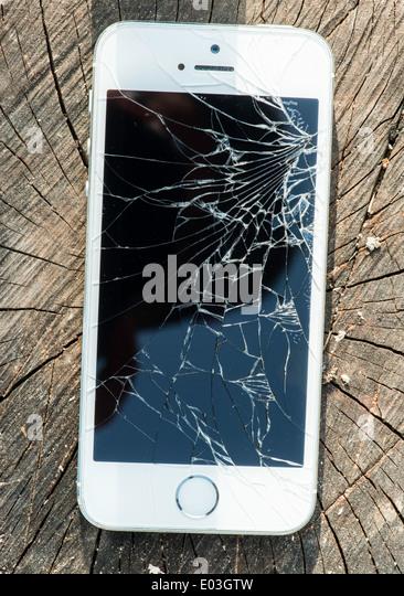 mobile phone broken glass stock photos amp mobile phone