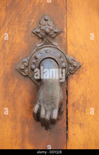 Beautiful Italian Hand Door Knocker Abstract   Stock Image