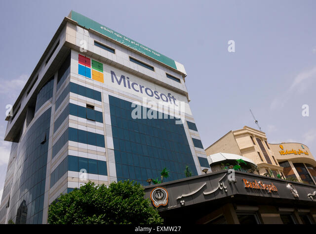 microsoft office building. an office building occupied by microsoft shemiranat county tehran iran stock image