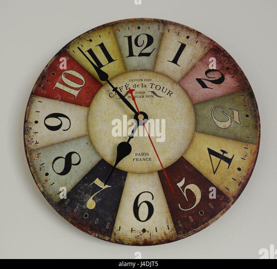 Stylish Wall Clock Stock Photos & Stylish Wall Clock Stock