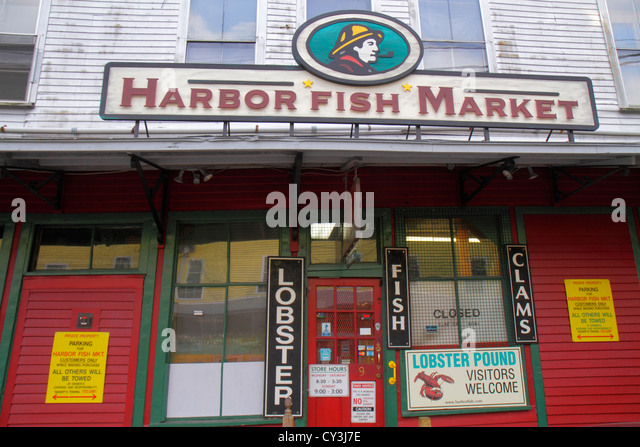 Old port maine stock photos old port maine stock images for Lobster house fish market