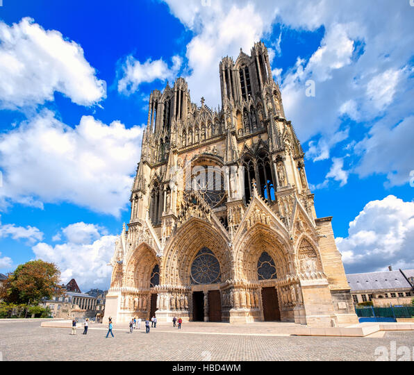 notre dame cathedral of reims stock photos notre dame cathedral of reims stock images alamy. Black Bedroom Furniture Sets. Home Design Ideas