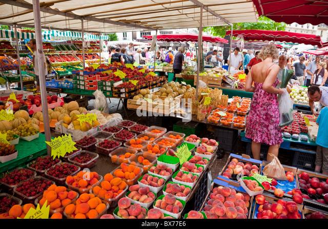 Rue Mouffetard Market Stock Photos  Rue Mouffetard Market Stock