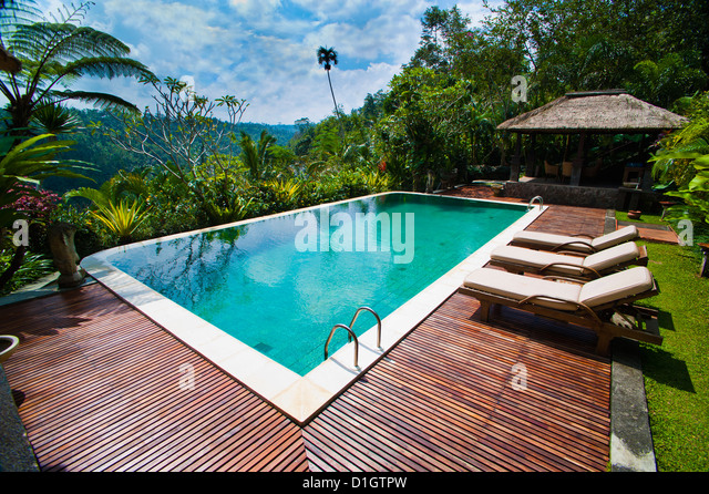 Swimming pool area stock photos swimming pool area stock for Luxury pool area