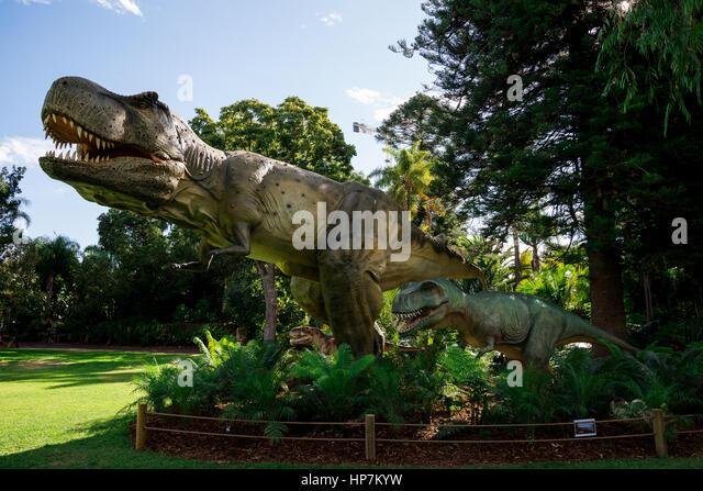 T rex statue stock photos t rex statue stock images alamy for T rex family