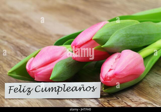 Birthday Card In Spanish Stock Photos Birthday Card In Spanish