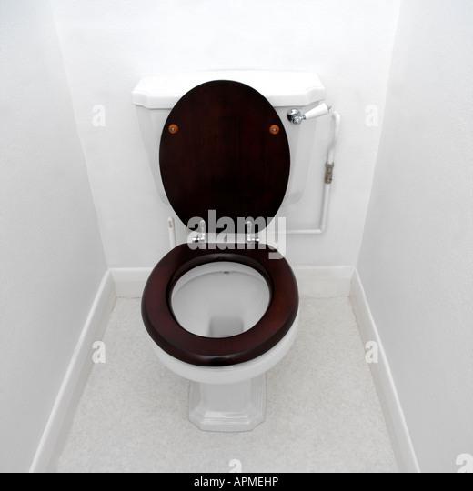 Wooden Toilet Seat Stock Photos  Wooden Toilet Seat Stock Images - Black wooden toilet seat