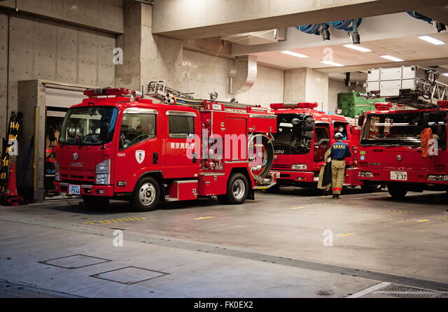 Japanese Fire Engines At A Fire Station In Tokyo Fk Ex on Old Ancient Trucks Steam Engines