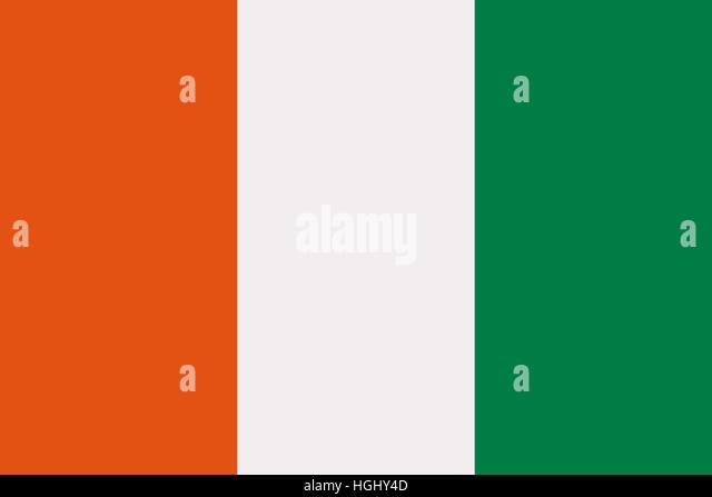 ivory coast flag stock image
