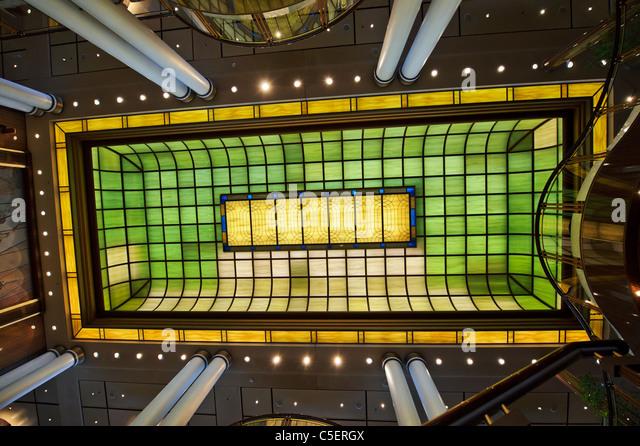 The Ceiling Of Britannia Restaurant Cunard Queen Mary 2 Ocean Liner