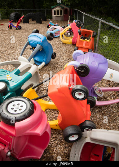 Children's toys at a preschool in New Jersey - Stock Image