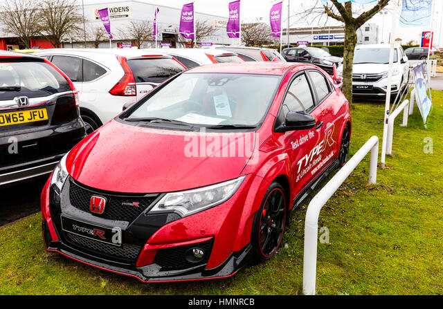 New Honda Civic Type R Racing Car Performance Car Honda Showroom Stock Image