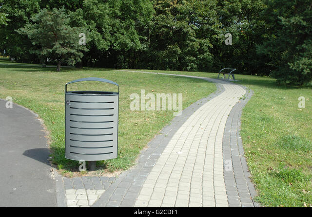Winsome Metal Waste Bin In Park Stock Photos  Metal Waste Bin In Park  With Exciting Grey Metal Dust Bin Nearby Pavement In Park In Poznan Poland  Stock Image With Comely Gaudi Gardens Also Dedon Garden Furniture In Addition Homebase Garden Ornaments And Widnes Garden Centre As Well As Garden Services Sevenoaks Additionally Kensington Palace Gardens From Alamycom With   Exciting Metal Waste Bin In Park Stock Photos  Metal Waste Bin In Park  With Comely Grey Metal Dust Bin Nearby Pavement In Park In Poznan Poland  Stock Image And Winsome Gaudi Gardens Also Dedon Garden Furniture In Addition Homebase Garden Ornaments From Alamycom