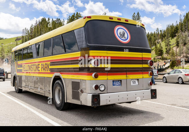 Yellowstone Bus Tour Stock Photos Yellowstone Bus Tour Stock - Bus tours usa