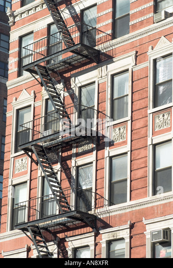 Fire Escape Ladder Stock Photos Amp Fire Escape Ladder Stock