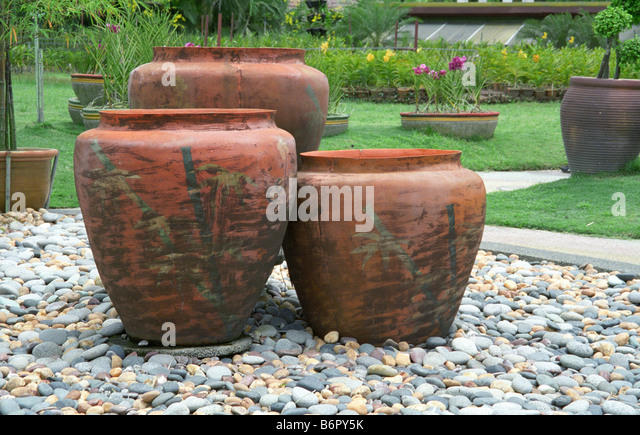 ... Garden Design With Large Clay Pots Stock Photos Uamp Large Clay Pots  Stock Images Alamy With