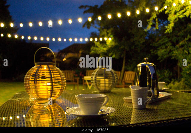 Garden Lanterns House Stock Photos Garden Lanterns House Stock