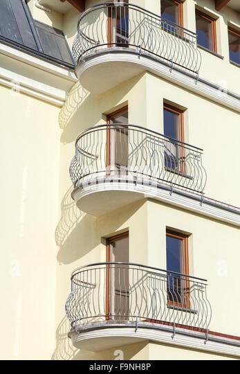 Apartment balcony railing stock photos apartment balcony for Balcony concept